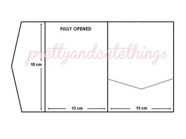 Ivory Cream Vintage Wedding Invitations Diy Pocket Fold Envelopes