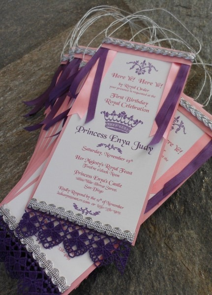 Kim Grant, Ink & Such  Here Ye! Here Ye! Princess Party Invitation