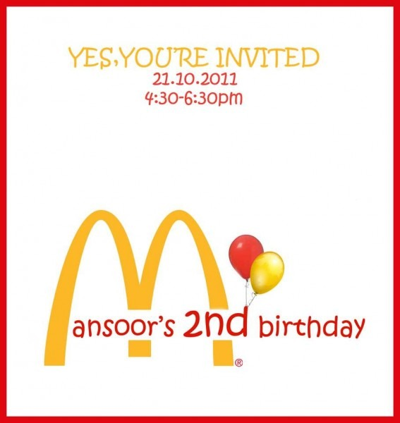 Mcdonalds French Fries Birthday Party Ideas