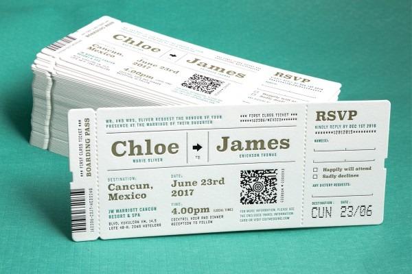 Custom Printed Wedding Invitations