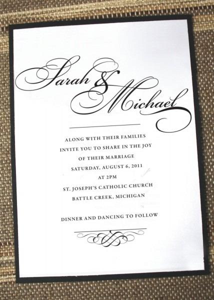 Elegant Wedding Invitations, Formal Wedding Invites, Timeless
