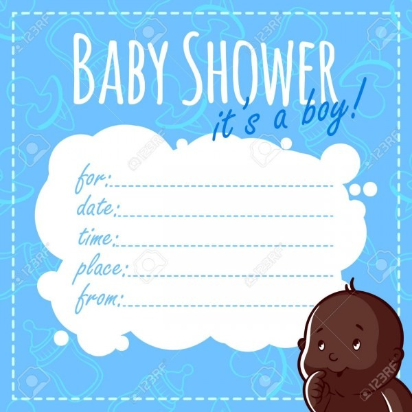 Baby Shower Card  It's A Boy! Blank Baby Shower Invitations For
