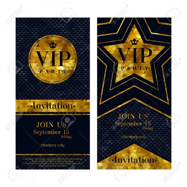 Vip Party Premium Invitation Cards Posters Flyers  Black And