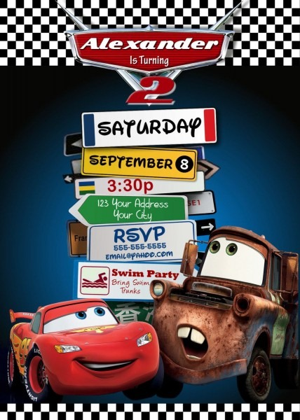 Disney Pixar Cars Lightning Mcqueen Mater Birthday Party