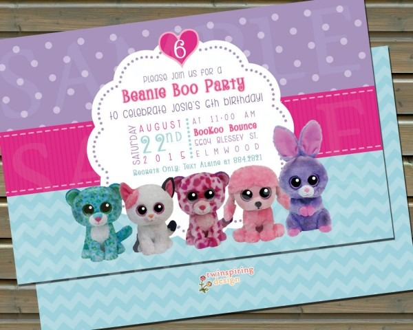 Popular Items For Beanie Boo Birthday On Etsy