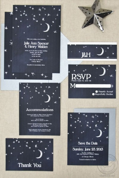 Wedding Invitations That Feature The Night Sky! A Sky Full Of
