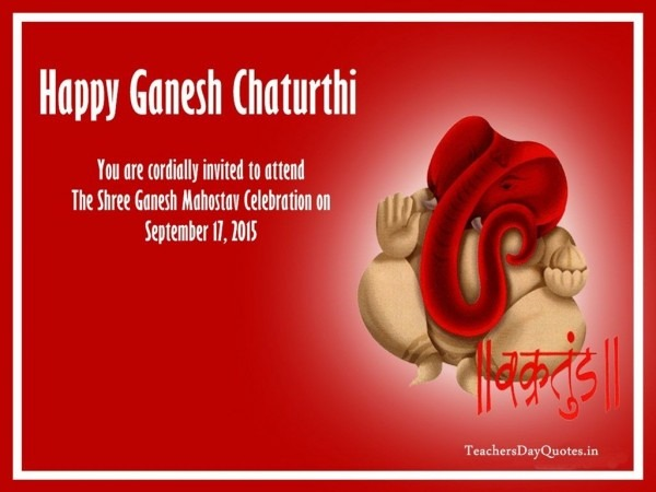 You All Are Cordially Invited For Ganesh Utsav Celebration In Our