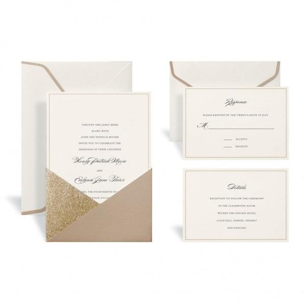 Gold Wedding Invitation Kit By Celebrate It™