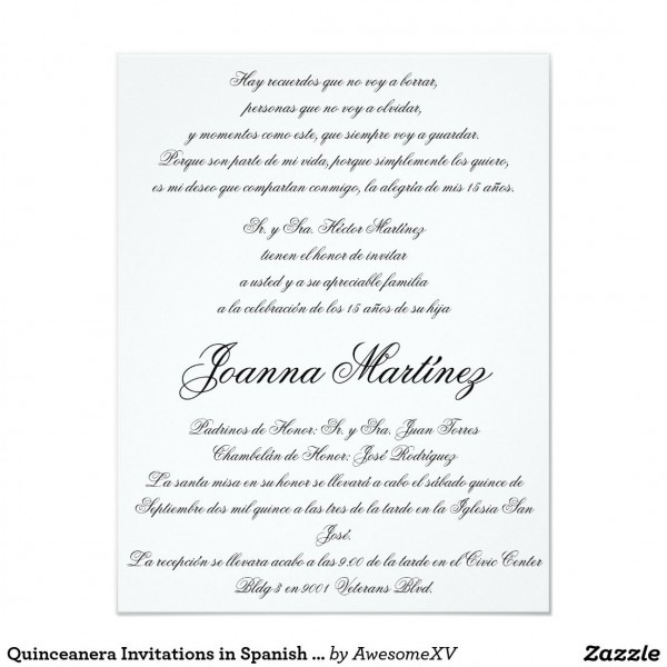 Quinceanera Invitations In Spanish 4 25 X 5 5 In 2018