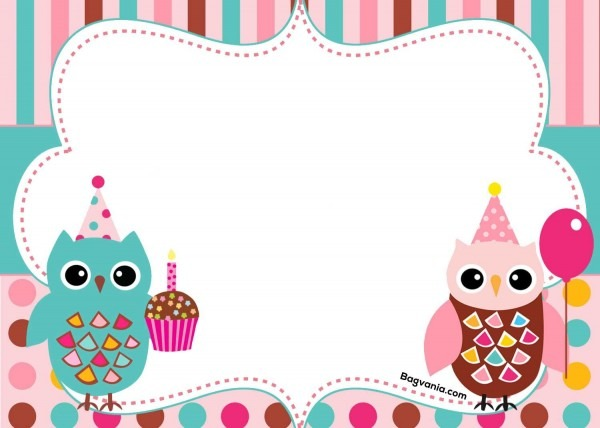 Free Free Printable Owl Birthday Invitation