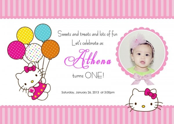 Download Free Template Hello Kitty Printable Birthday Invitations