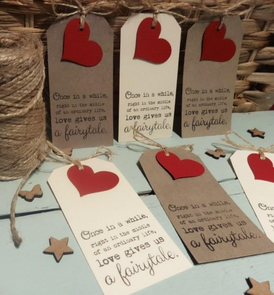 50 Rustic Vintage Style Luggage Tags Favour Place Card Wishing