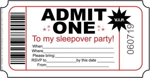 Free Printable Invitations For Kids Sleepover – Invitationlayout
