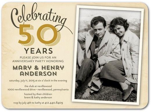 50th Wedding Anniversary Invitation 50th Wedding Anniversary