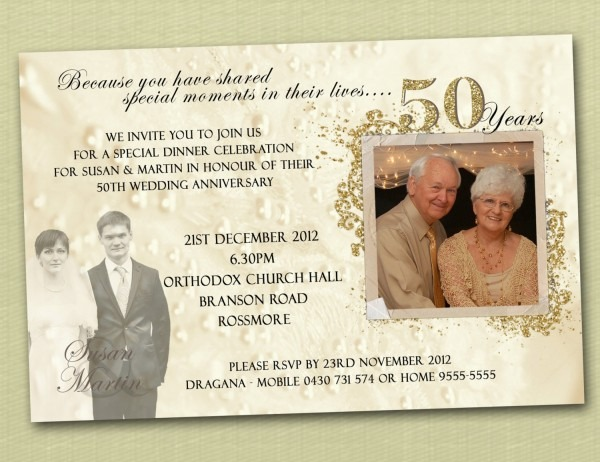 50th Wedding Anniversary Invitation 50th Wedding Anniversary