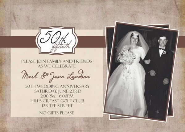 50th Wedding Anniversary Invitations Free Templates Nice With 50th