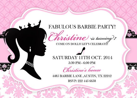 Barbie Bridal Shower Invitations Related Keywords & Suggestions