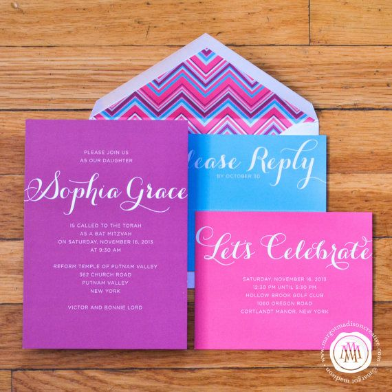 11 Best Bella's Bat Mitzvah Images On Best Party Invitation Collection