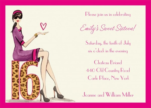 Download Free Template Sweet 16 Birthday Invitations Templates