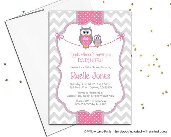 Imágenes De Girl Owl Baby Shower Invitations