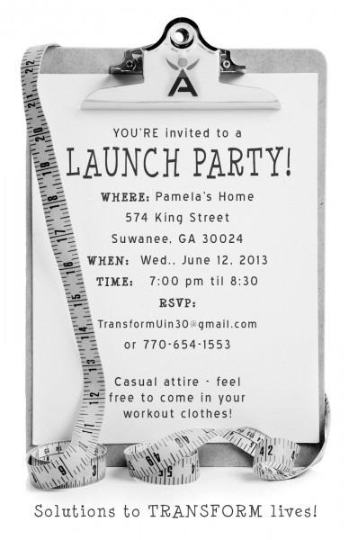 Isagenix Launch Party Invite