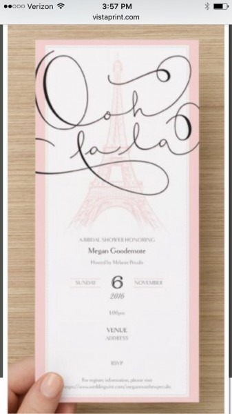 86 Best Lori's Parisian Wedding Shower Images On Best Party Invitation Collection