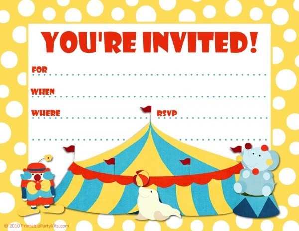 Free Carnival Ticket Invitation Template, Download Free Clip Art