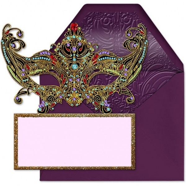 Free Printable Masquerade Invitation Template