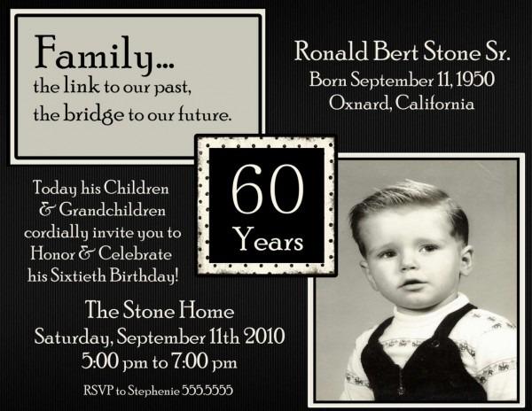 60th Birthday Party Invitation Template — Birthday Invitation Examples