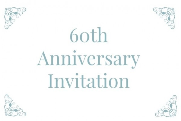 60th Wedding Anniversary Invitation Wording