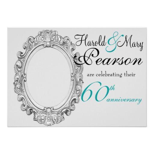 60th Wedding Anniversary Invitation Ideas