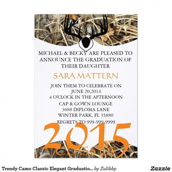 Camo Graduation Invitations