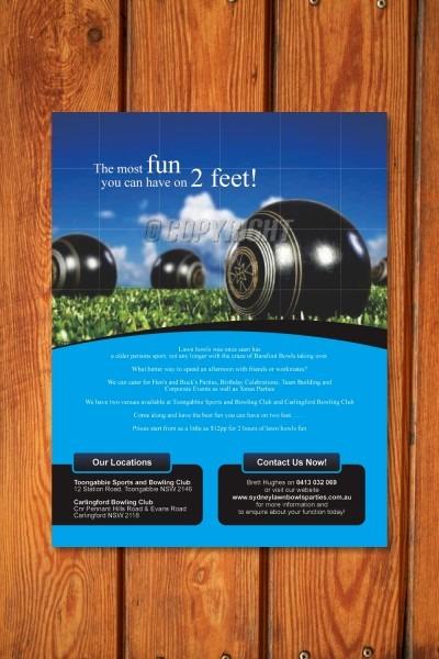 Elegante, Juguetón, Residential Diseño De Flyer For Sydney Lawn