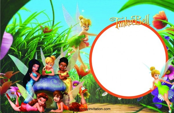 Awesome Free Printable Disney Tinkerbell Birthday Invitation