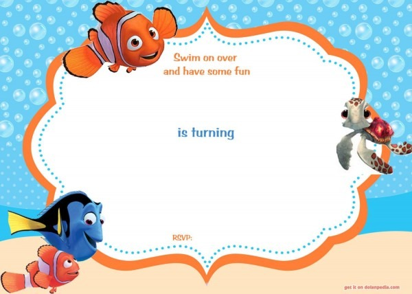 Download Now Free Template Free Printable Finding Nemo Birthday