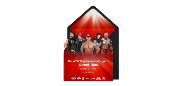 Free Wwe Group Invitations