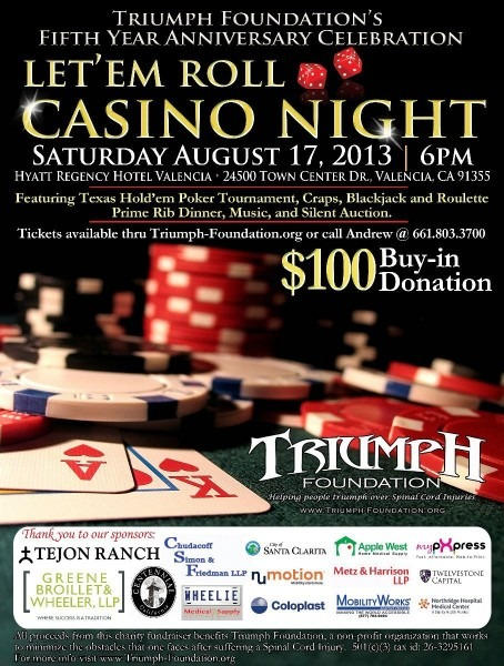Casino Night Invitation For A Casino Fundraising Party