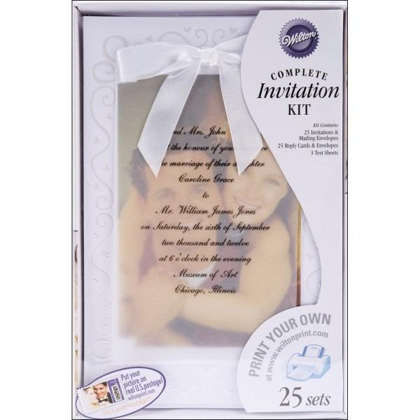 Amazon Com  Wilton The Two Of Us Wedding Invitation Kit  Kitchen