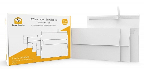 Amazon Com   White Invitation 5 X 7 Envelopes 110 Pack