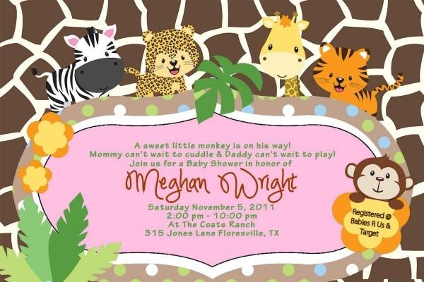 Amazon Com  Custom Baby Shower Jungle Invitations Tiger Zebra