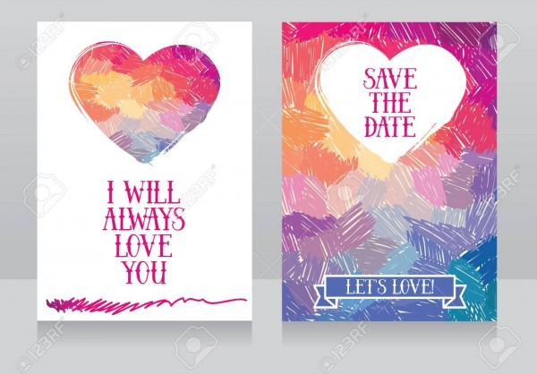 Artistic Cards For Love, Can Be Used For Valentine's Day Or As
