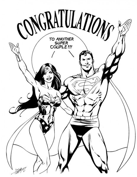 Superman Wonder Woman Wedding By Andy Smith