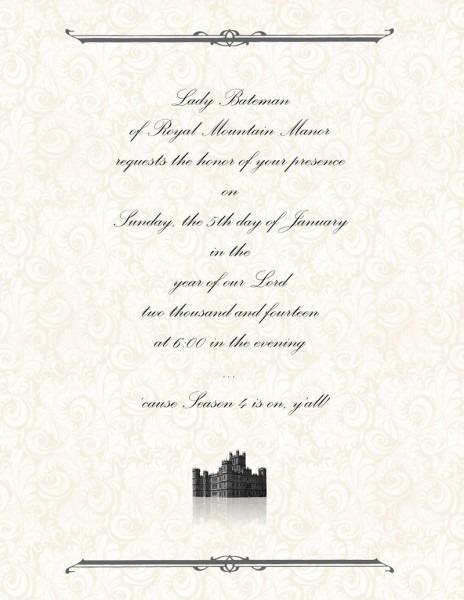 Downton Abbey Season 4 Party Printables