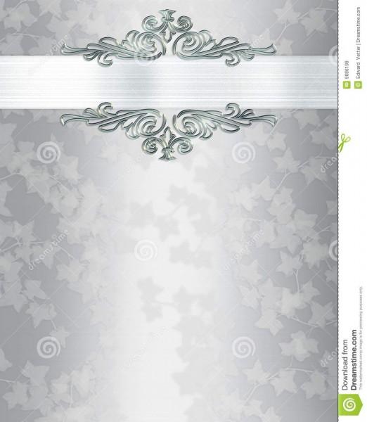 Silver Wedding Invitation Templates