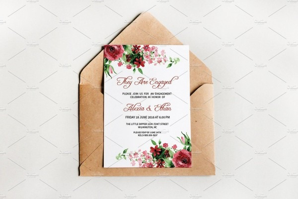 Engagement Party Invitation Template By Wedding Templates On