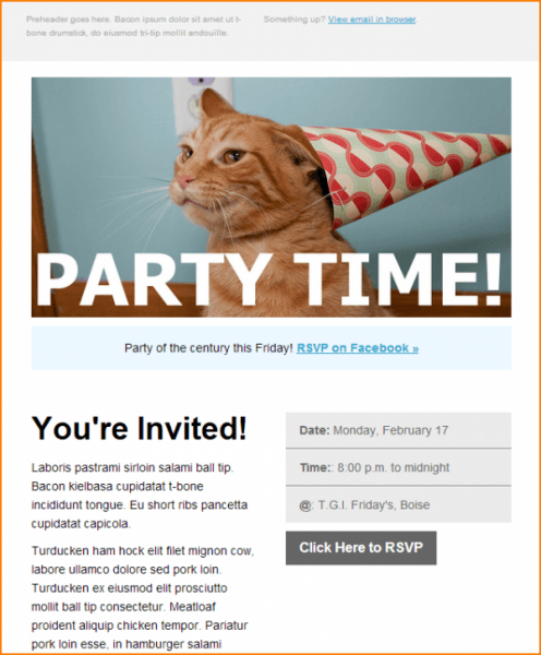 Place A Clearly Specific Stand Out Rsvp Button At The End Of Your