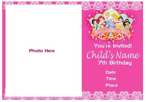 Pinktinyshop  Photo Invites For 7th Birthday Girl
