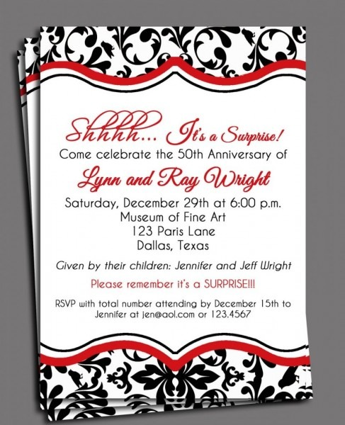 Black Damask Invitation Printable Or Printed With Free Shipping