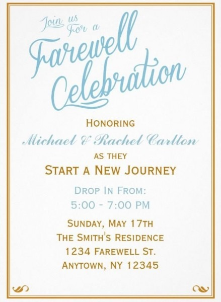 Farewell Invitations
