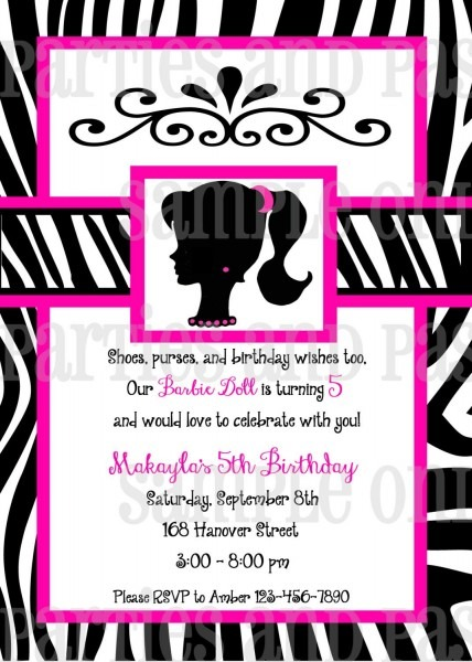 Vintage Barbie Birthday Invitation